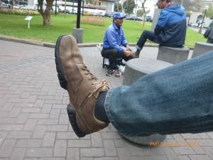 yup we loved the shoe shine guys!