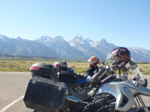 Stopping for a photo shoot at the Grand Tetons
