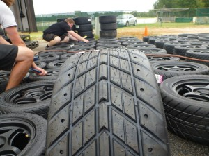 Getting the rain tires ready for a quick switch over